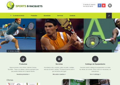 Sports&Racquets Webshop